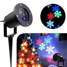 rgb led ip65 projector Australia - 6PCS Outdoor Laser Lights Waterproof Snowflake Led Projector Lights RGB Lawn Spotlight Spot Flood light for Xmas Holiday Garden decoration