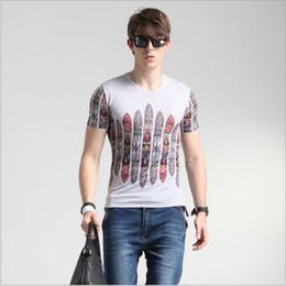 New Neck Design T Shirts Canada - 2016 Summer New Men Fashion Print Tshirts Silk Men's Wear T shirt Round Neck Mens Tshirts Creative T Shirt 3D design Tees