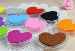 $enCountryForm.capitalKeyWord Australia - Free Shipping 12Colors Mini Heart Shape Craft Ink Pad Colorful Cartoon Ink Pad Self Inking Stamps For DIY Scrapbooking