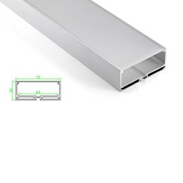 $enCountryForm.capitalKeyWord NZ - 50 X 1M sets lot New arrival led strip aluminium profile and 75mm wide square alu channel for pendant or ceiling lamp