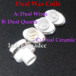 $enCountryForm.capitalKeyWord UK - Dual ceramic quartz wax coils for micro dry herb g Vaporizer herbal vaporizers pen Wax dry herb atomizer e cigarette herber vapor cigarettes