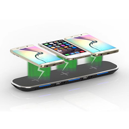 3 In 1 Qi Wireless Fast Charging Stand Pad With 2 USb Ports Portable Charger For Iphone 8 X Samsung S6 S7 Edge S8 Plus Android Phone