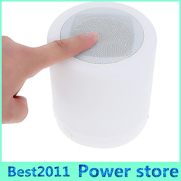 cards slots NZ - Touch Smart Bluetooth Speaker Led Lamp Light Warm White Portable Led Light with Ring HandsFree Call TF Card Slot Indoor Lighting