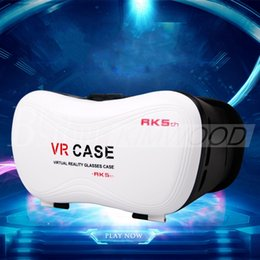 Die neueste 5. G VR BOX Version VR Virtual Reality Brille Riss Google Karton 3D Film für 3,5