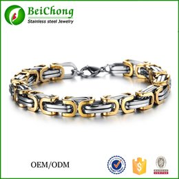platinum chains wholesale 2019 - BC Factory Direct Sale Fashion Men Jewelry Stainless Steel Bracelet Men Chains 2016 cheap platinum chains wholesale