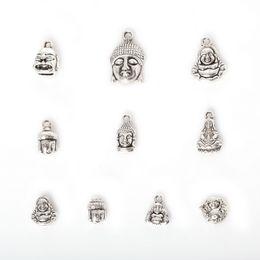 Shop 18k gold buddha pendant uk 18k gold buddha pendant free free shipping new wholesale 75pcs mixed antique silver plated zinc alloy avalokitesvara buddha charms pendants diy metal jewelry findings j aloadofball Images