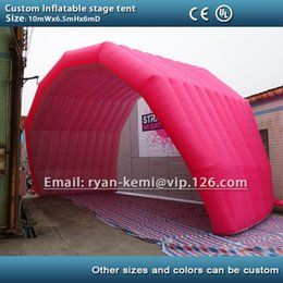 Tents Events Canada - Free shipping pink 10m giant inflatable stage tent cover large inflatable marquee for outdoor events custom tent with logo