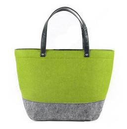 $enCountryForm.capitalKeyWord Canada - 2016 felt Shopping bags simple woman handbags designer handbags shoulder bags drop shipping can customize logo
