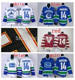 discount vancouver canucks 14 alex burrows hockey jersey home blue away white black red fashion 100