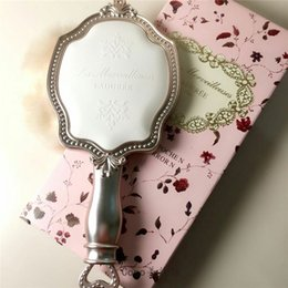 Vintage makeup holder online shopping - LADUREE Les Merveilleuses HAND MIRROR N cosmetics Makeup mirror Compact Vintage Plastic holder make up pocket mirror
