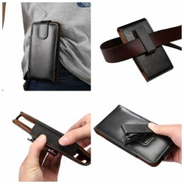 black leather belt pouch 2019 - Hip Flip Holster Vertica Clip Genuine Universal Buckle Coat Real Leather Case For Iphone 7 6 6S SE 5 Galaxy S7 Edge S6 P