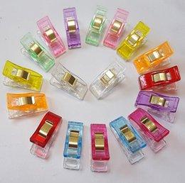 Опт 10 цветов Пластиковые Wonder Clips Держатель для DIY Лоскутная Ткань Лоскутное Craft Швейные Вязание