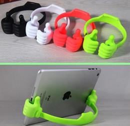 Suporte de Montagem Universal Portátil e Perfeito OK Polegar Suporte Do Telefone Móvel Tablets Flexível Polegar Titular para iPhone6Plus Samsung S6 S5 HTC em Promoção