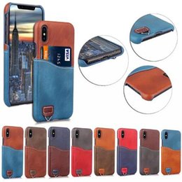 $enCountryForm.capitalKeyWord NZ - New Leather Card Pocket Wallet Case Cover Multifunction Money Pouch Shockproof Protective Back Shell case for IphoneX iphone X