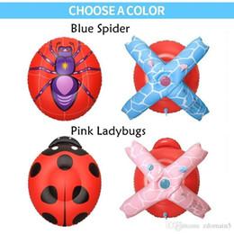 $enCountryForm.capitalKeyWord Canada - 2017 Newest Multifunction Back Vest lifejacket Children Inflatable Pool Float Summer Children Spider Ladybugs Toys Swim Ring