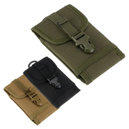 Mobile Pouches NZ - Universal Cell Phone Bag MOLLE Waist Bag Tactical Mobile Phone Bag Belt Pouch Case Cover Pouch Cell phone Pouch 16.5*8.5*3.5cm
