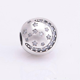 $enCountryForm.capitalKeyWord Canada - Christmas star clips charms S925 sterling silver jewelry fits for pandora bracelets antique free shipping KT086-NH9