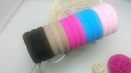 Wholesale Practical Colorful Hair Ties Simple Style Elastic Headbands Ponytail Holder Band of HOT SELLING