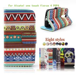 alcatel one touch phone covers 2019 - For Alcatel One Touch Fierce 4 POP 4 PLUS 5056 Allura Metropcs Flip Leather wallet pouch Case with stand phone cover