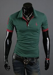 $enCountryForm.capitalKeyWord NZ - NEW Contrast Color Male Plus Size Polo Shirts Cotton Breathable Polo Shirts Men's Clothing Popular Short Sleeve Polo Shirts Slim Fit Tees
