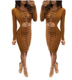 Femmes Sexy Européennes Pas Cher-Femmes Européenne Américain style chaud Clubwear Mode Sexy Hollow Out Bandage Deep V Party bodycon Mini-robe