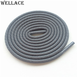 Shoe Shoelaces Canada - Wellace Polychrom Round Rope 3M Reflective Runner Shoe Lace Visible Safty Shoelaces custom Shoestrings 120cm for 350 750 Trekking Shoes