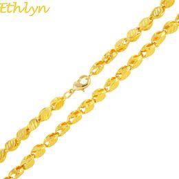 Discount dubai gold pendants - Ethlyn Handmade Length 50cm Width 3mm ,New Ethiopian Thick Necklace Gold Color Africa Eritrea Chunky Chain Dubai  Arab N