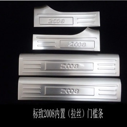 $enCountryForm.capitalKeyWord Australia - Stainless Steel Interior Scuff Plate Door Sill For 2015 Peugeot 2008 Welcome Pedal Threshold Strip Car Styling Accessories 4 pcs set