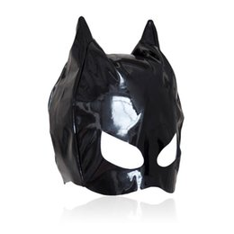 $enCountryForm.capitalKeyWord Canada - Hot sexy Female Sex Bondage Fetish Leather Mistress Cat Hood Adult Half Face Mask Masquerade Costume