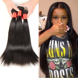 $enCountryForm.capitalKeyWord Canada - 12-30 Inch Brazilian Straight Hair Grade 7A Natural Color Wet And Wavy Human Hair Unprocessed Brazilian Hair Bundles Dyeable 3 4Pcs  Lot