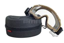 tactical comfortable goggles Outdoor Eyewear Eye protection popular Russia Suitable for Helmet (DE/BK)