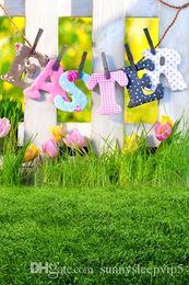 Easter Backdrops Canada - 5X7ft Children Baby Easter Fotografia Background Thin Vinyl Cloth Photography Photo Studio Decor Backdrops