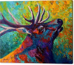 Giclee Art Canada - Giclee Animal forest echo bull elk oil painting arts and canvas wall decoration art Oil Painting on Canvas 60X76cm MRR184