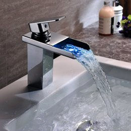 Bathroom Faucet Discount discount led single bathroom faucet | 2017 single led waterfall