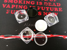 Chinese  Plastic wax container round and square shape 3g 5g 10g make up silicone containers box clear makeup abs case dab dabber jars manufacturers