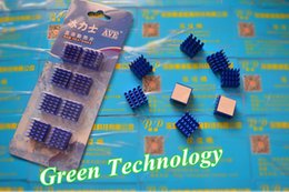 $enCountryForm.capitalKeyWord Canada - 8pcs lot Blue Aluminum Heat Sink 15*15*8.2MM For RAM Memory Chip Cooling fin Heat With Cooling Paste