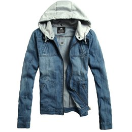 545559cbbb249 Fall-New 2015 Mens Hooded Denim Jacket Casual Jeans Jacket Outwear Winter  Coats Jacket For Men Plus Size M--3XL