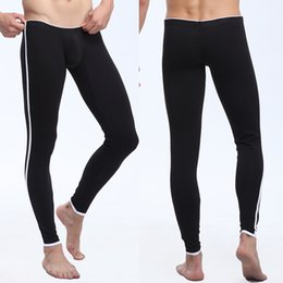 Voir À Travers Des Pantalons Pour Hommes Pas Cher-Pantalons gros-Gym Gay Pajama Pants Marque Vêtements Sexy Homme Pyjamas Literie See Through Pajama Pants Men Sexy Pantalon Homme Pajama Pant