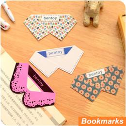 Bookmark Supplies Canada - 12 pcs Lot Fresh Collar bookmarks Making skirt book marker PVC Book Page Holder marcador de livro office School supplies 6636