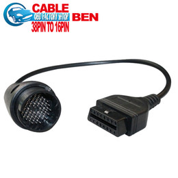 Obd1 Obd2 Connector Canada - Wholesale-Bzen 38 pin to 16 Pin Adapter Cable bens obd1 to obd2 Connector cable free shipping