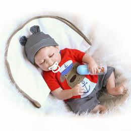 "$enCountryForm.capitalKeyWord NZ - 22"" Sleeping Realistic Full Vinyl Body Bathed Washable ANATOMICALLY CORRECT Silicone Reborn Baby Boy Doll in Lovely Clothes"