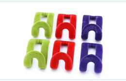 $enCountryForm.capitalKeyWord Canada - 10pcs lot save space Derlook magic hanger slip-resistant flock printing clothes rack clothes hanging mini-wardrobe random colors