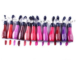 24 Hour Lip Color NZ - Excel lip gloss 24 Hours Long Lasting 12colors Waterproof Lip Gloss Vitamin E&A by park888 DHL Free