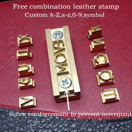font tools 2019 - Wholesale-Customized leather logo stamp leather heating tool Custom letters Numbers and symbols(A-Z,a-z,0-9 more ) any f
