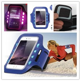 $enCountryForm.capitalKeyWord Canada - S7case Waterproof led night light Sports Running Armband Case Workout Holder Pounch Arm Bag Band shinny pouch case for iphone samsun 4.7 5.5