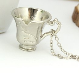 $enCountryForm.capitalKeyWord Canada - Free Shipping Once Upon A Time Rumbelle Bella Clip Tea Cup Pendant Charm Necklace FASHION JEWELRY movie necklace