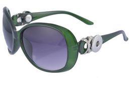 Snap button SunglaSSeS online shopping - popular Green New DIY sunglasses noosa button noosa chunks interchangeable button sunglasses fashion accessories women snap button jelwery