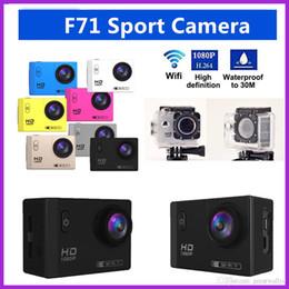12mp Action Camera NZ - New Sports Action Camera F71 WiFi HD 1080P 2.0 Inch LCD 12MP 30MP Camera 30m Waterproof 170 Degrees Wide Angle Waterproof VS SJ4000 SJ7000