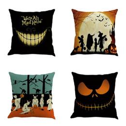 Discount plain beds - Halloween Decoration Linen Pillowcase Ornament Gift Bed Car Pillow Case Home Decor Square Cushion Cover Sofa Decorative