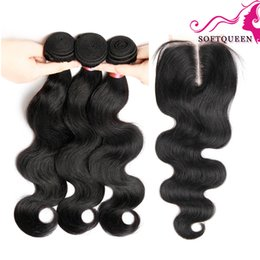 Wholesale Peruvian Lace Closure With Bundles Body Wave Virgin Human Hair Weave With Silk Closure Bundles And Soft Top Lace Closures